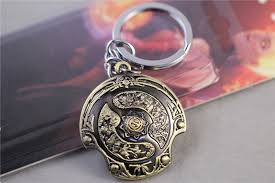new dota 2 immortal champion shield key chain car pendant jewelry