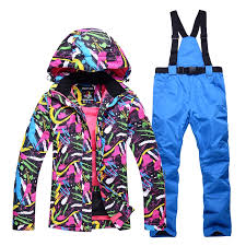 Autumn and <b>winter professional ski</b> suits <b>ladies</b> outdoor windproof ...