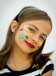 halloween face makeup ideas flowers ladybugs flowers on the cheek