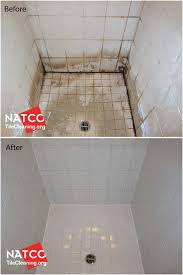 ugly looking shower looks new again after cleaning and removing soap s best caulk for or forcing caulk into shower