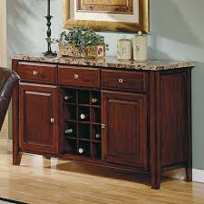 Kitchen Server Furniture Steve Silver Montibello Wine Rack And Server Buffets
