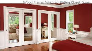 wood frame replacement mirrored wardrobe doors bold white sliding closet polished slanted bifold interior wheels