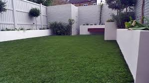 Painted Fences artificial grass easi grass grey painted fences modern garden 5590 by xevi.us