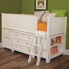 Lea Bedroom Furniture Lea Industries Willow Run Twin Low Loft Bed With Bookshelf