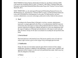 surety bond form suretyship agreement template payment bond surety bond form with