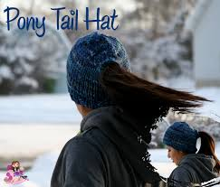 Free Crochet Hat Pattern With Ponytail Hole Simple Pony Tail Hat Design KB Looms Blog