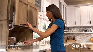 Appliance Garages Kitchen Cabinets Schuler Cabinetry Counter Wall Cabinet With Vertical Lift Door