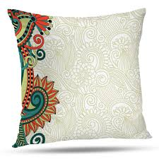 Flower Designs For Pillow Cases Amazon Com Batmerry Floral Pillow Covers 18x18 Inch Floral