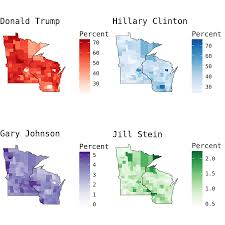 Presidental Election Results Mapping Wisconsin Presidential Election Results Michael Lee