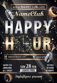 Happy Hour Flyer Happy Hour Psd Flyer Template