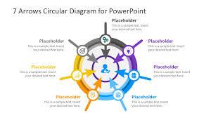 Arrow Ring Chart Powerpoint 7 Arrows Circular Diagram Powerpoint Template
