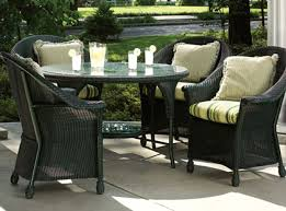 Front porch furniture sets black patio table porch black wicker