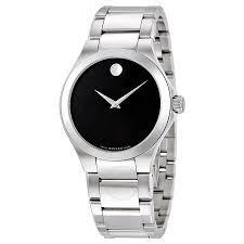 movado defio black dial stainless steel men s watch 0606333