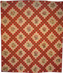 19th CENTURY QUILTS & View Large Image · BRODERIE PERSE IRISH CHAIN ANTIQUE QUILT Adamdwight.com