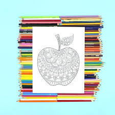 Free Apple Coloring Pages Koshigayainfo