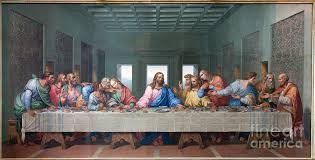 photograph mosaic of last supper of as copy of leonardo da vinci by