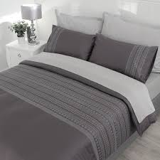 400tc egyptian cotton embroidered duvet cover set liberty grey