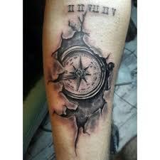 Compass Tattoo Cracked Tattoo Motivy Tetování A Návrhy Tetování