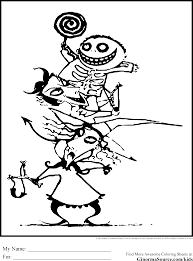 Nightmare Before Christmas Coloring | Free | Download