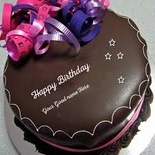 Happy Birthday Chocolate Cake Image Write Name On Image