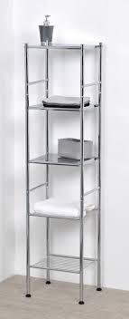 Bath 5-tier Tower Shelf Rack Metal Chrome Silver