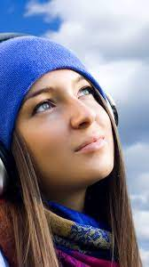 Girl Listening To Music android wallpapers