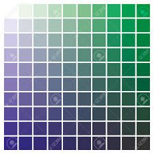 Blue In Green Chart Cmyk Color Chart To Use In Prepress And Printing Used To Pick