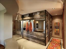 view in gallery reclaimed timber walls create a fabulous modern rustic bathroom design birdseye design