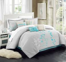 turquoise sheet set king delboutree charcoal gray turquoise bedding sets sale