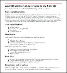Mechanic Resume Enchanting Aircraft Mechanic Resume Sample Aircraft Maintenance Engineer Sample