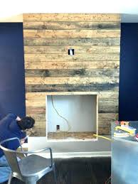 pallet fireplace surround electric