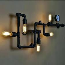 black pipe light socket unique black pipe lamp for vintage wall lamp 5 light sockets black black pipe