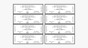 dinner template ticket clipart editable editable dinner tickets template