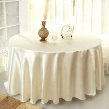new 5 x ivory 70 round table cloth cover cotton wedding party dining restaurant hotel