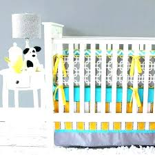 yellow gray chevron print crib bedding set grey baby sets pink and black by designs