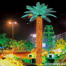 outdoor led lighted palm tree manufacturer
