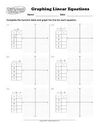 full size of linear functions worksheet answers concept graphing a function worksheets exponential algebra 2