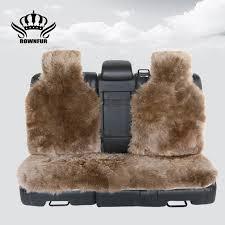 3pc the back long hair car seat cover natural fur sheepskin car seat covers universal