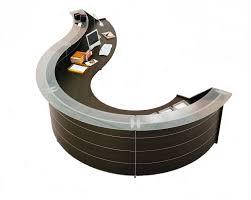 round office desks. Luna Wenge Office Reception Desk In Circular Design Round Desks