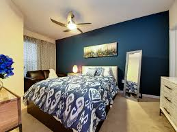 2017 Contemporary Bedroom With Peacock Blue Accents (Image 1 of 15)