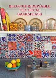 Kitchen Backsplash For Renters How To Cover Ugly Rental Kitchen Backsplashes Kitchen Backsplash