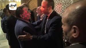 الزعيم عادل امام من اوئل الحضور في عزاء والدة تامر عبد المنعم - YouTube