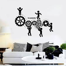teamwork office wallpaper. Contemporary Office Teamwork Words Wall Decals Office Motivation Worker Stickers  SelfAdhesive Decor Removable Art For Wallpaper T