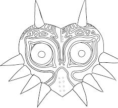 Legend Of Zelda Majora S Mask Coloring Pages Coloring Page