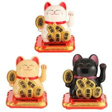 Chinese <b>Lucky Cat</b> Wealth Waving Shaking Hand Fortune Welcome ...