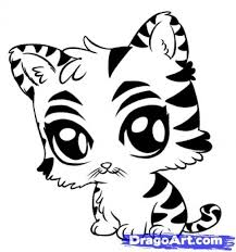 Small Picture Cute Coloring Pages Baby Tiger Coloring Page hermesboardcom
