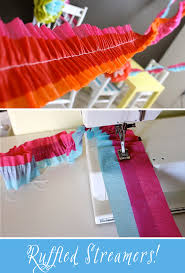 how to make crepe paper ruffle streamers love the diffe colors together
