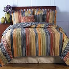 King Size 100% Cotton Quilt Set With Brown Orange Red Blue Stripes ... & Photo 3 of 9 King Size 100% Cotton Quilt Set With Brown Orange Red Blue  Stripes ( 100 Cotton Adamdwight.com