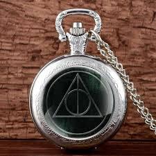 details about antique harry potter pocket watch quartz ly hallows pendant necklace chain