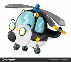 Cartoon Lustige Polizei Hubschrauber Stockfoto Illustratorhft